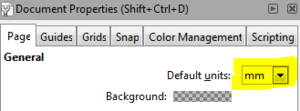 "Set the ""Default units"" setting to ""mm"""