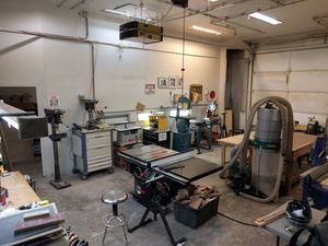 The wood shop at TinkerMill